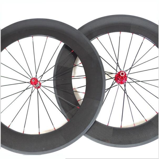 Juego de ruedas de carbono 700C, Cubo de rodamiento cerámico Powerway R36, ruedas de carbono, 88mm, cubierta o Tubular, rodamiento de acero clin en forma de U