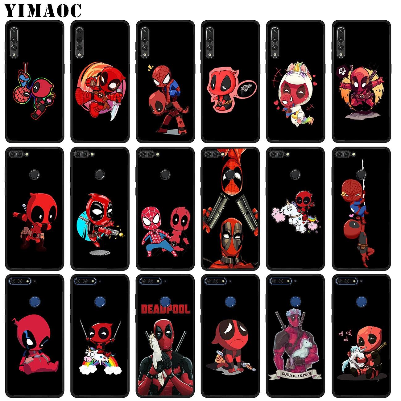 YIMAOC Marvel unicornio divertido Deadpool suave de silicona caso para Huawei P20 Pro P10 P9 P8 Lite Mini 2017 P Smart Z 2019 cubierta de TPU
