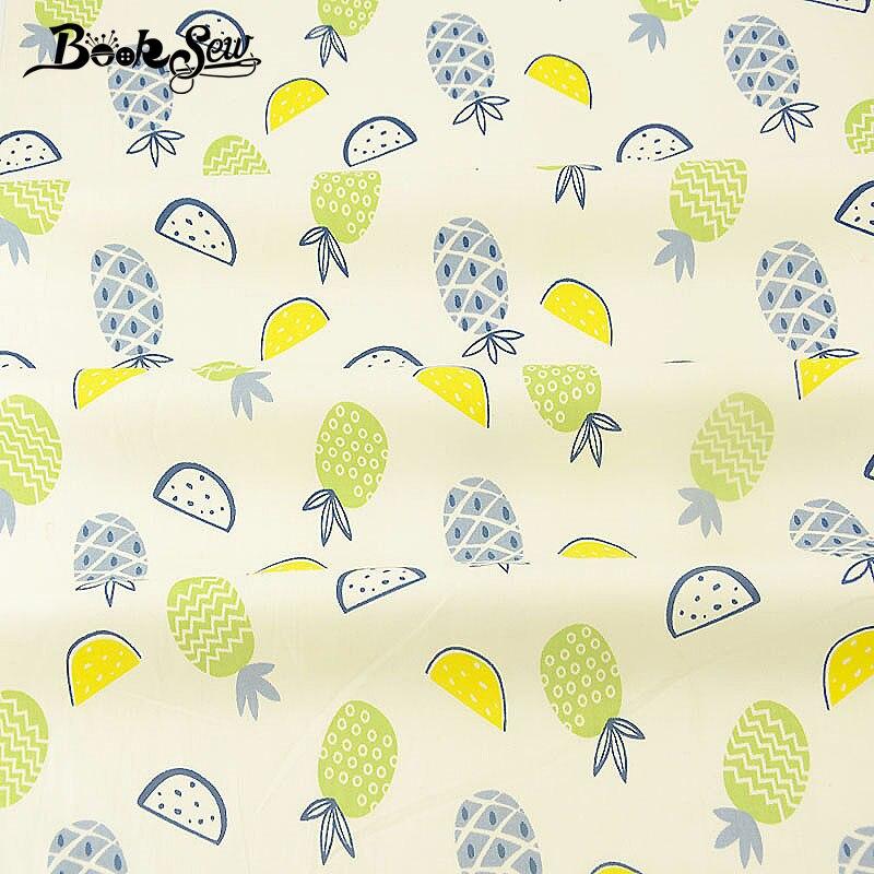 Tela de sarga de algodón Booksew, tela de costura de diseño de frutas para sábana de bebé, retales DIY para manualidades tejido acolchado, tejido Tissu para el hogar