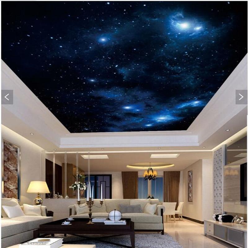 Custom ceiling wallpaper, fantastic sky mural for living room KTV bedroom ceiling background wall decorative wallpaper