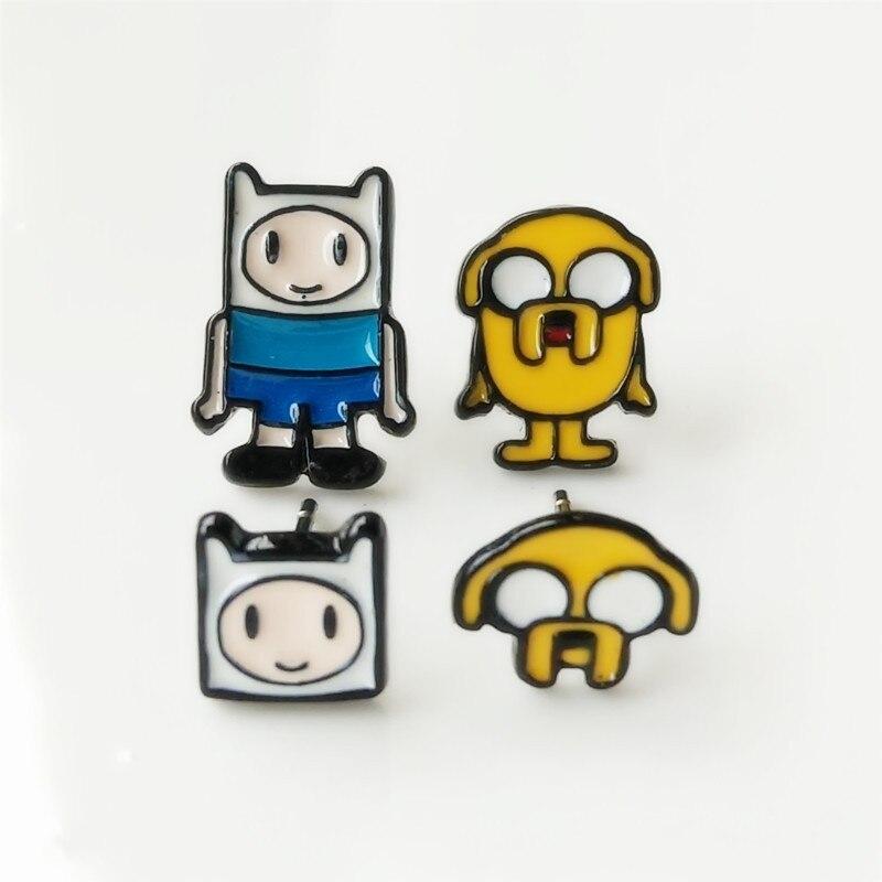 Anime cartoon Adventure Time earring Finn Jake lindo novedad Mujer Accesorios perro cosplay divertido y nuevo niños pendientes de tuerca de moda