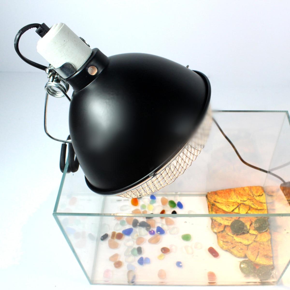 E27  Lamp Holder art deco UV Light Ceramic Aquarium Heater Vivarium Reptile Tortoise Turtle Snake Pet lamp shade With Switch Net