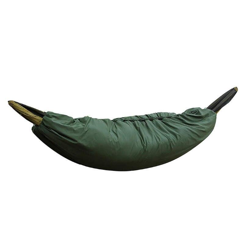 Cubierta para hamaca exterior de invierno, para acampada, ultraliviana, longitud completa, saco de dormir frazada con cremallera, hamaca elástica de 200*75cm