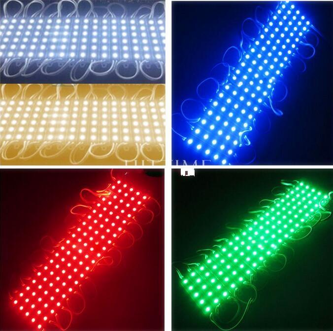 5050 SMD 5LEDs LED Module White/Warm White/Red/Green/Blue Waterproof Light Advertising lamp DC 12V Wholesale