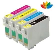 4pack Compatible EPSON fox T1285 multi Ink Cartridges  Stylus SX125 SX130 SX230 SX235W SX420W SX425W Printer