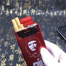 Bricolage Che Guevara étui à cigarettes   Bricolage, métal gravé au Laser, boîtes de cigarettes de poche pour fumée, boîtes automatique rouge noir doré bleu
