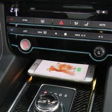 15 Вт Qi Беспроводное зарядное устройство Быстрая Беспроводная зарядка беспроводное зарядное устройство для Jaguar XF XE XFL F-PACE 2017-2018 для iphone 8 X XSmax