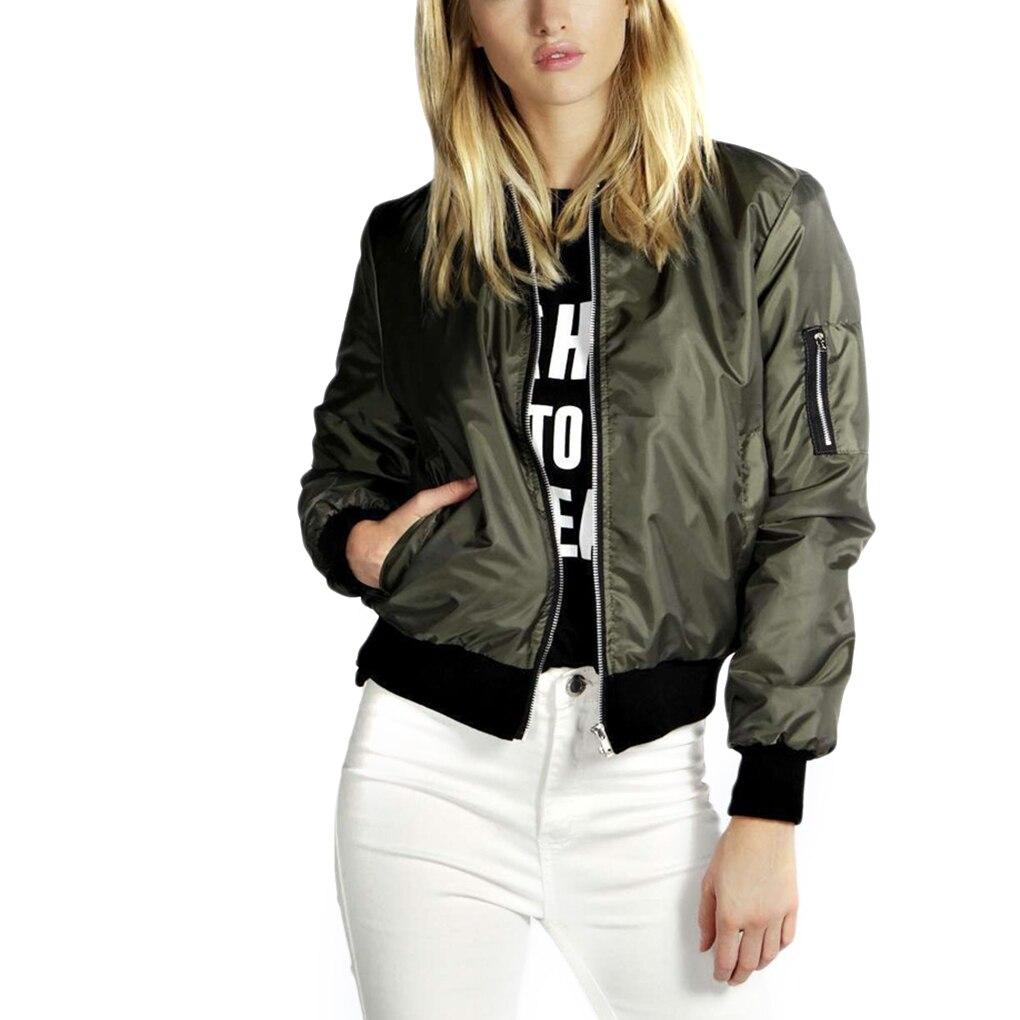 Fashion Women Jacket Solid Color Autumn Winter Coats Long Sleeve Basic Jackets Thin Women's Jacket F
