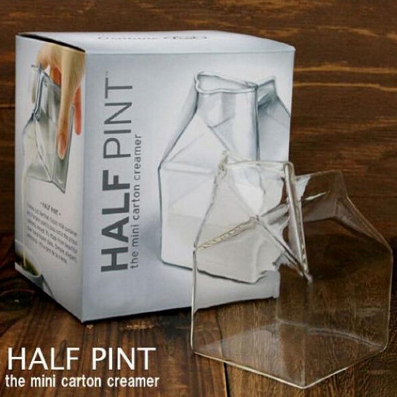 Copo criativo de vidro de borosilicato alto calor-oposição fred e amigos meia caneca de leite de bezerro mini caixa