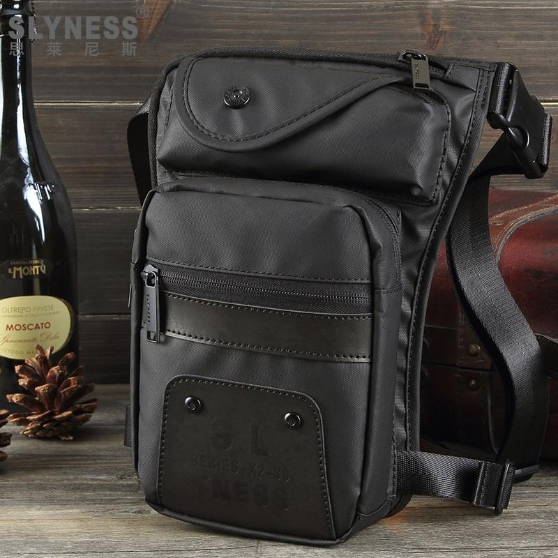 new fashion men waist bag nylon casual travel waist packs Fanny pack Waterproof military leg bag motorcycle thigh bag for men