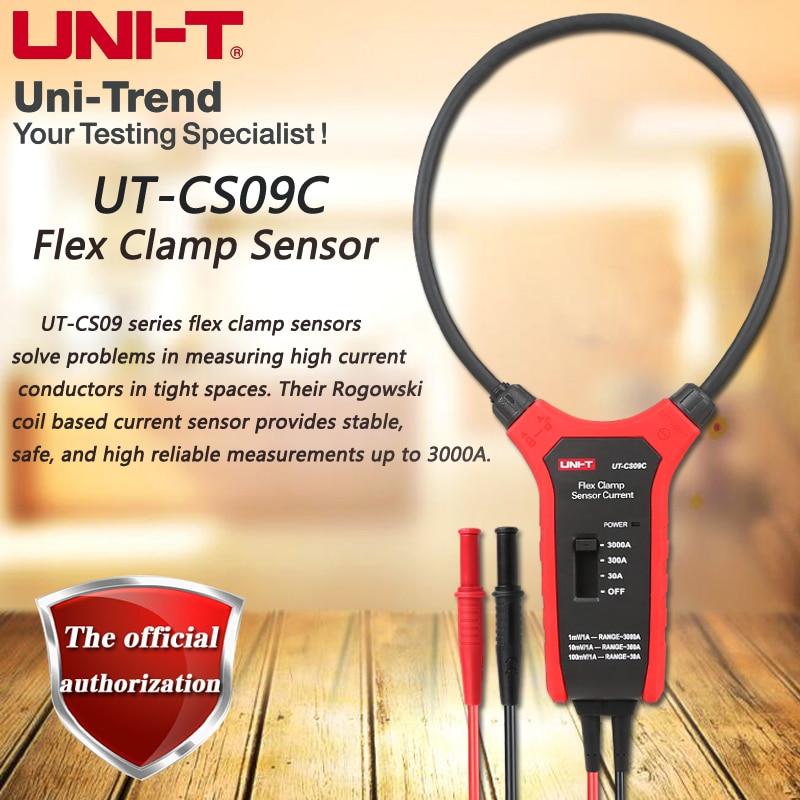 UNI-T UT-CS09C Flex Clamp Sensor, 3000A AC Clamp Meter, Oscilloscope / Multimeter Current Probe
