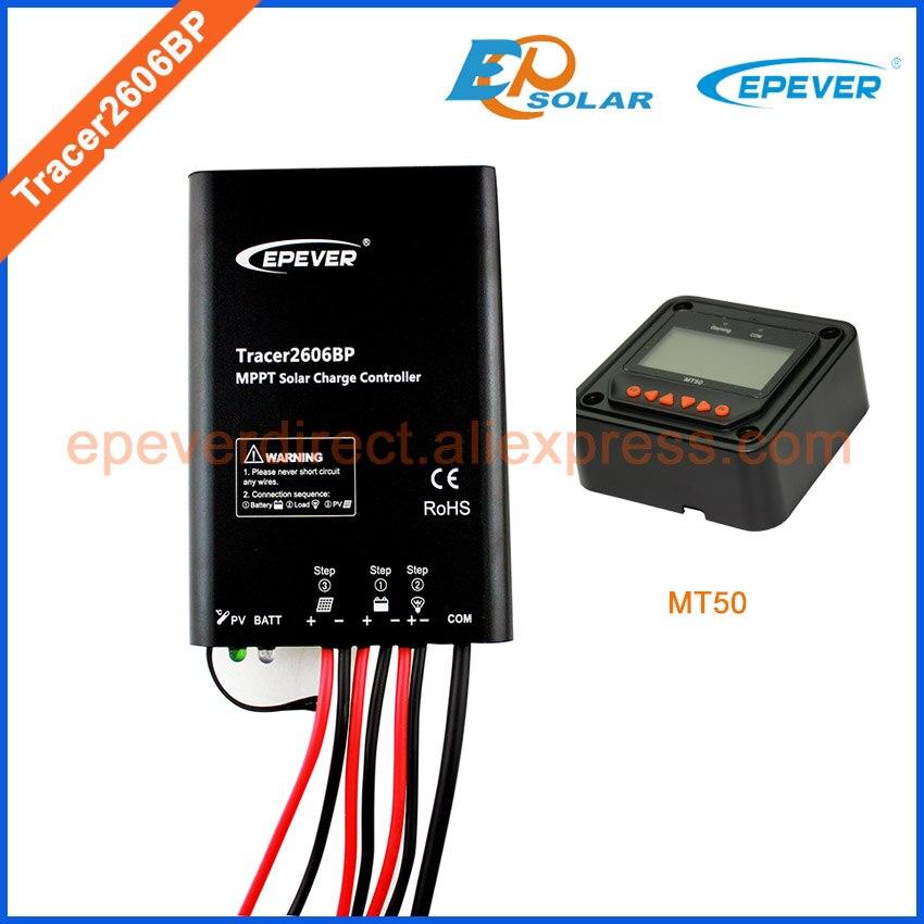 produto novo da chegada do controlador de mppt tracer2606bp 12 v 24 v bateria trabalho