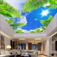 Papel pintado para techo Mural de árbol papel pintado fotográfico para decoración de paredes de dormitorio Murais de pared papel de pared 3d