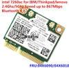 Placa de rede Sem Fio de Banda dupla-AC 7260 7260AC 7260HMW wifi + BT 4.0 Bluetooth adaptador mini PCI-E 867 Mbps lenovo 04 04X6090X6010