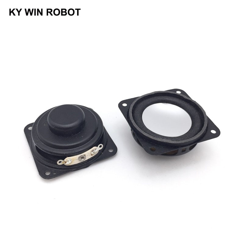 2PCS/Lot High Quality Speaker Horn 2W 8R 40x40mm 4x4cm Mini Amplifier Rubber Gasket Loudspeaker Trumpet