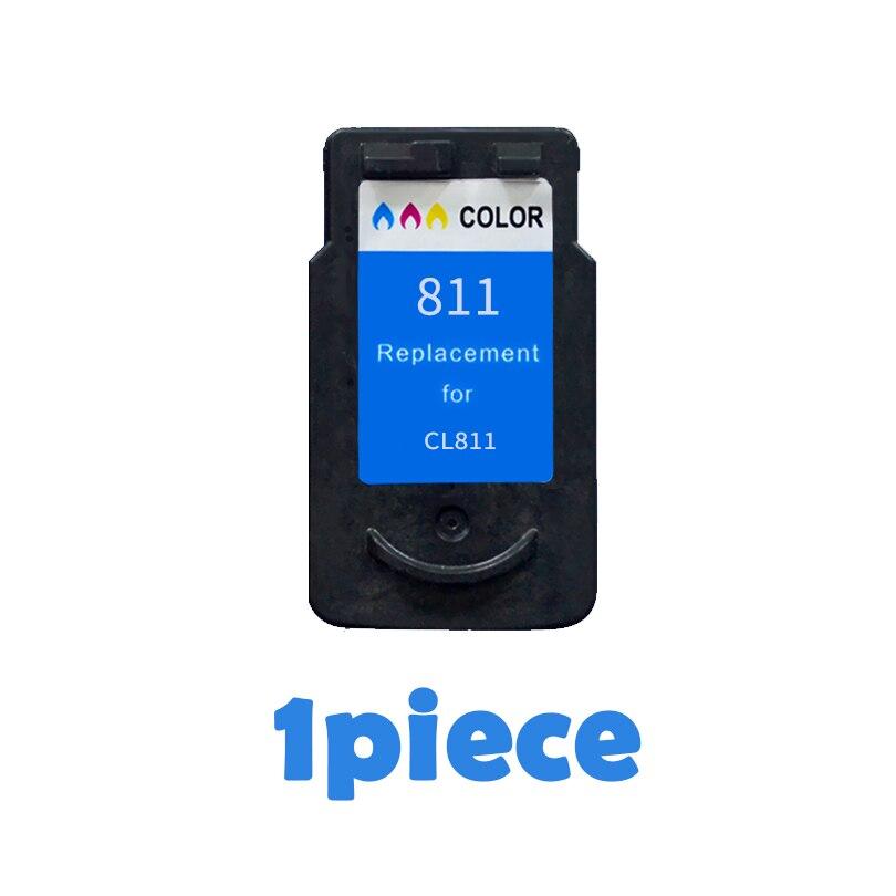 1 Color CL811 compatbile cartuchos de tinta para Canon CL 811 PIXMA iP2770 iP2772 MX328 MX338 MX347 MX357 MP237 MP245 impresoras CL-811