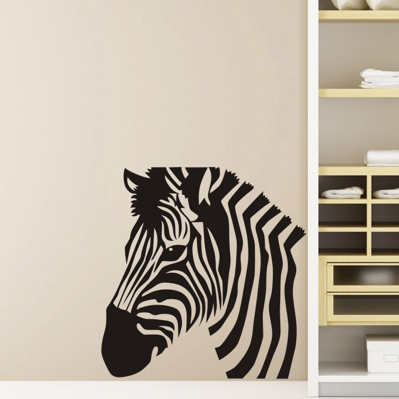 Zebra Wall Sticker Zebre Decal Cebra Posters Vinyl Wall Art Decals Pegatina Decal Decor Mural Wild Animal Sticker