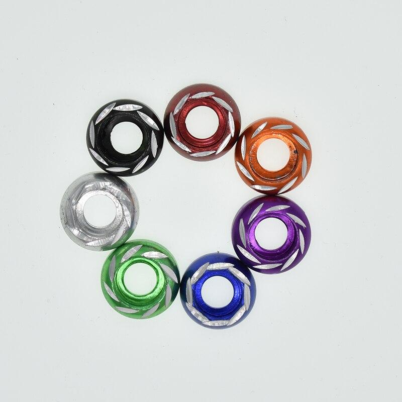 10 Uds M6 arandelas de aleación multi-Color Aluminio modificado para motocicleta y decoración