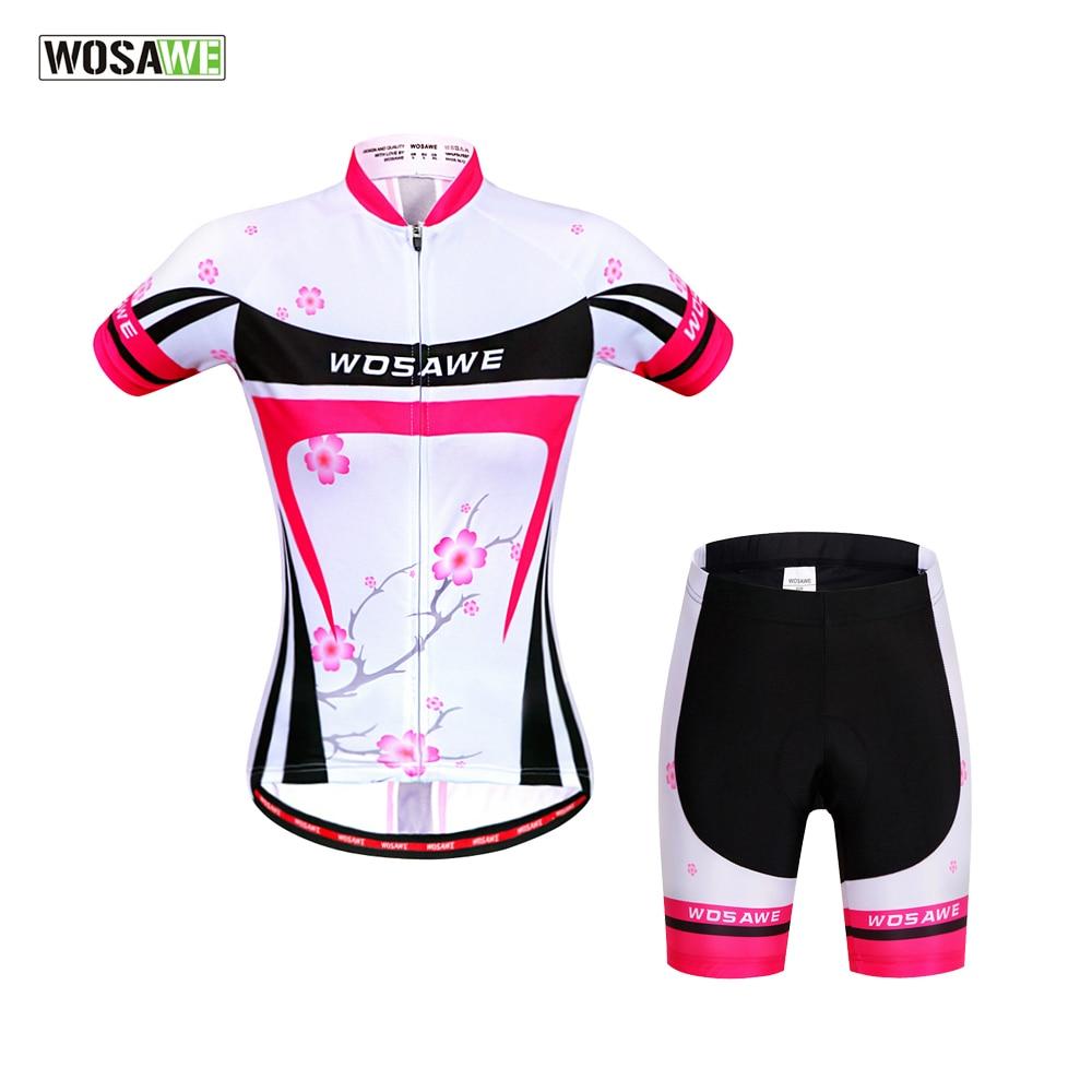 Женский трикотажный комплект WOSAWE Pro, летняя велосипедная спортивная одежда с коротким рукавом