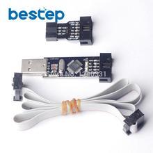 USBASP/USBISP + STK500 10Pin to 6Pin Adaptörü 3.3 V/5 V AVR Programcı USB Indirme Hattı ATMEGA128 ATMEGA8 USBASP USBISP AVRISP
