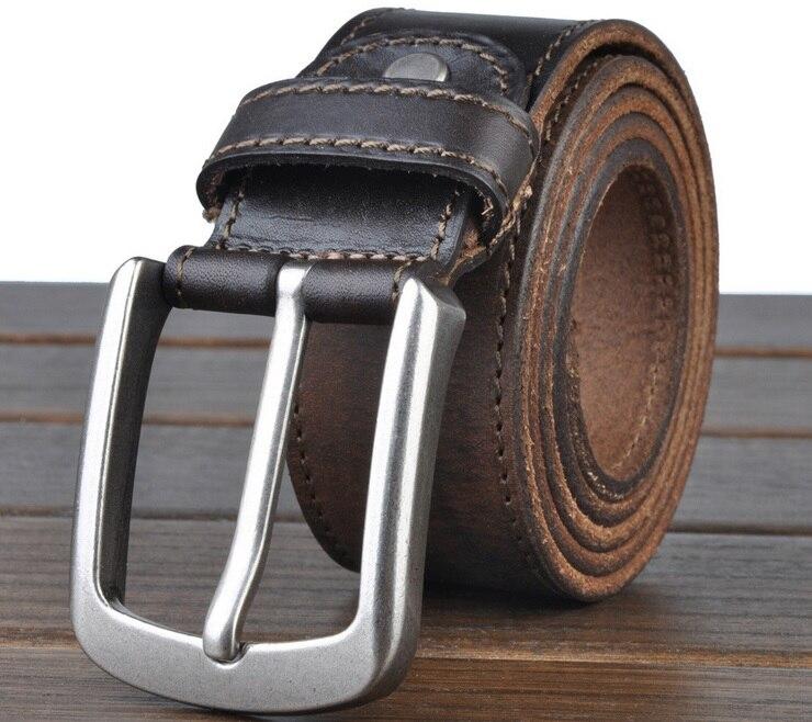 100% genuine leather belts for men cowboys jeans natural vintage 2018 high quality full grain vegetable tanned real strap cintos