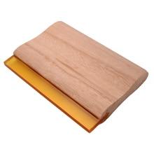 1 pièce soie artisanat tissu sérigraphie presse raclette manche bois encre grattoir lame 6
