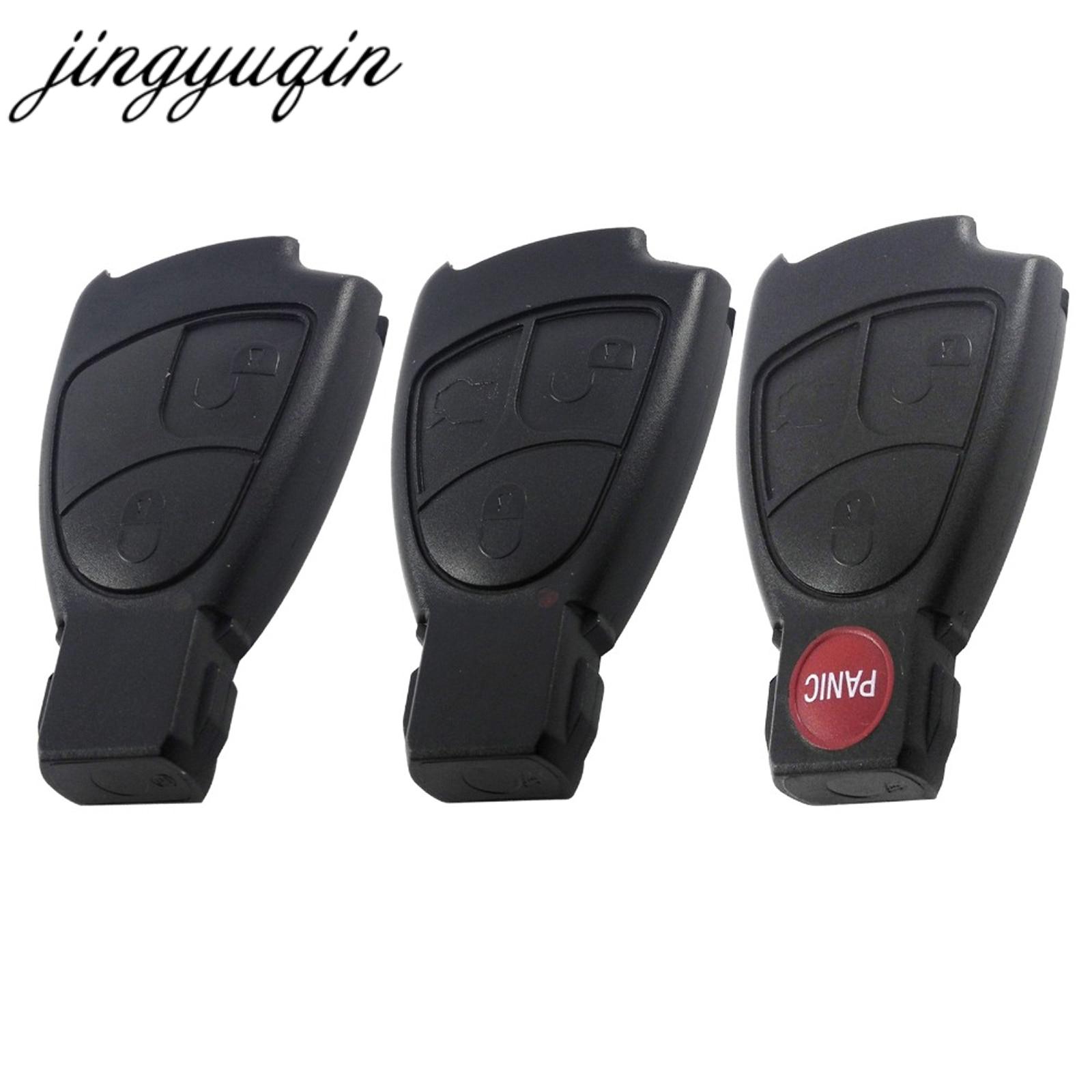 Jingyuqin 100 pçs/lote 2/3/4 botões remoto chave fob caso capa para mercedes benz b c e ml s clk cl 3b 3bt rreplacements