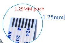 20 unids/lote FFC/FPC Flexible Cable plano 1,25mm 4P/6P/8P/P 10/12P/16P/18/P/20P/22P/30P cable de isotropía,...