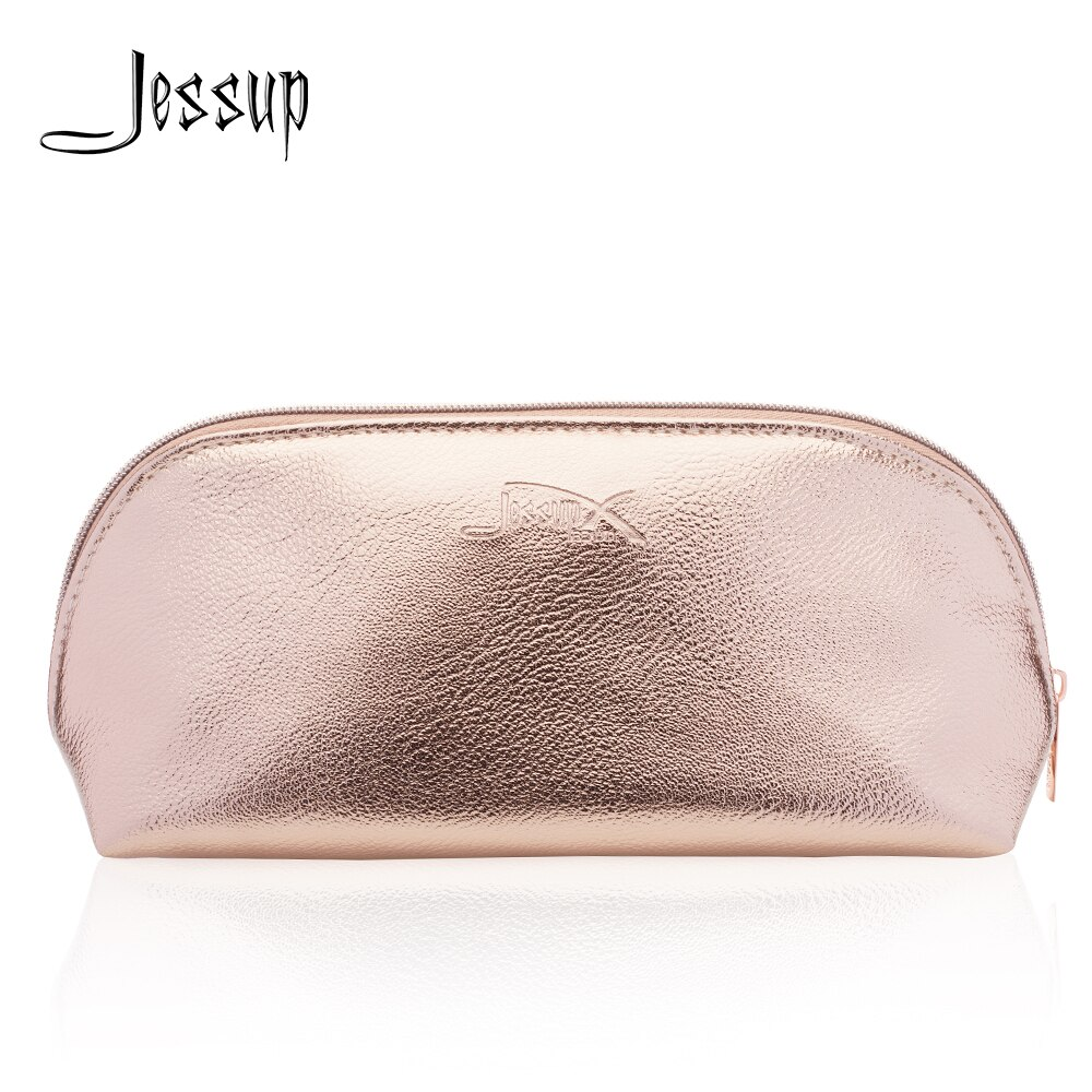 Jessup, bolsa para brochas de maquillaje, marca de belleza, bolsa de cosméticos para mujer, estuche de maquillaje de viaje, estuche dorado CB009
