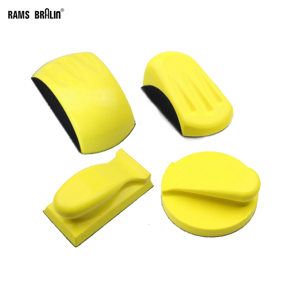Supporto per disco abrasivo, tampone lucidante per supporto in carta vetrata, blocco per molatura manuale