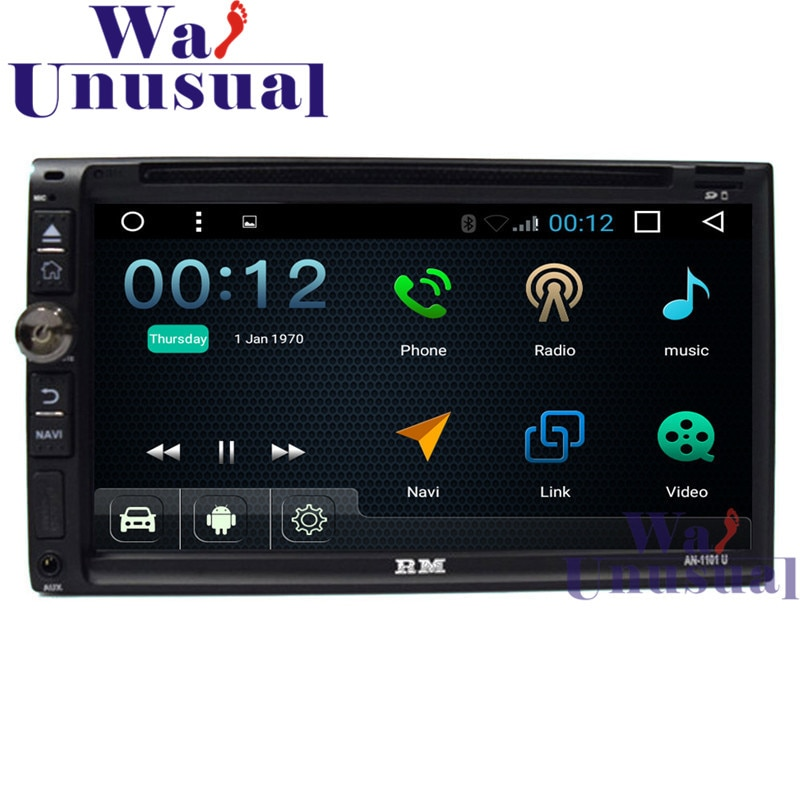 "6,95 ""2DIN Android 6,0 reproductor de Radio para coche Universal GPS Navi con WIFI + BT + DVR + enlace espejo + Quad core 16GB + TV + 3G + 800*480 mapas"