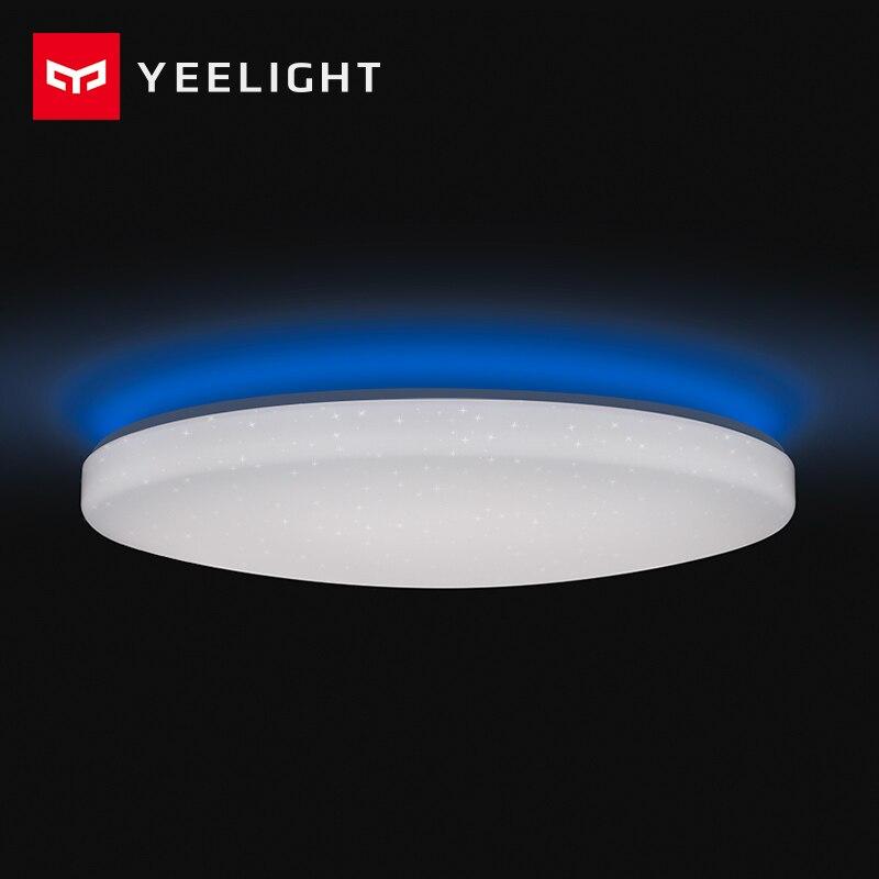 Yeelight Led luz de techo Pro 650mm RGB 50W Aplicación de hogar inteligente de Control de Google para Amazon Echo para casa inteligente golpea
