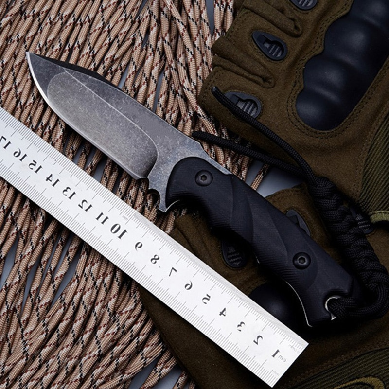Тактический нож BGT M3 с фиксированным лезвием, прямой нож с лезвием D2, полный нож Tang G10, ручка для выживания, кемпинга, охоты, уличные ножи, инст...