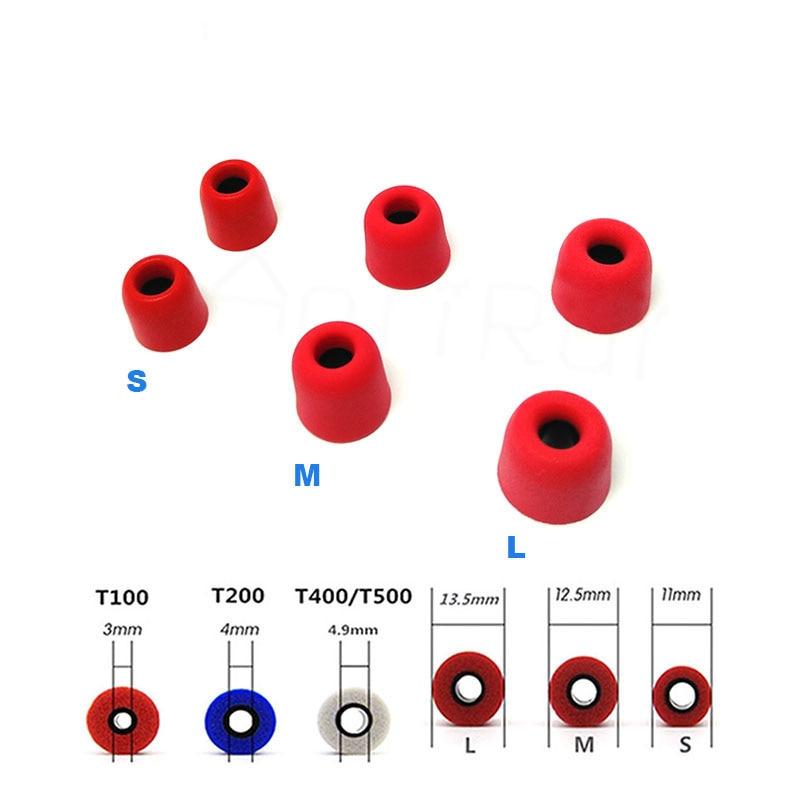 6 pcs/3 pair  ANJIRUI (L M S) 4.9mm caliber ear pads/cover T400/T500 memory sponge ear style for in-ear style earphone ear cotto