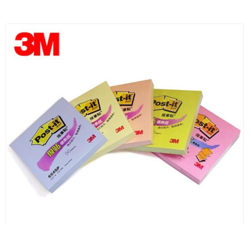 4pads/pack  90pages /pads stickers notes yellow green sticky color note paper notice stickers post office post it 654SP
