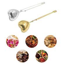 Heart-Shaped Tea Herbal Spices Seasonings Food Tongs Long Handle Tea Ball Strainer Infuser Filter Interval Diffuser