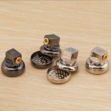 2 stücke Angepasst 15,4 MM Kopfhörer Gehäuse MMCX Abnehmbare Jack Reinem Kupfer Flache Kopfhörer Shell Fällen DIY