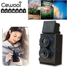 Cewaal Moda Preto DIY Gêmeo Lens Reflex Câmera de Filme Lomo Clássico Kit Passatempo Brinquedo Foto