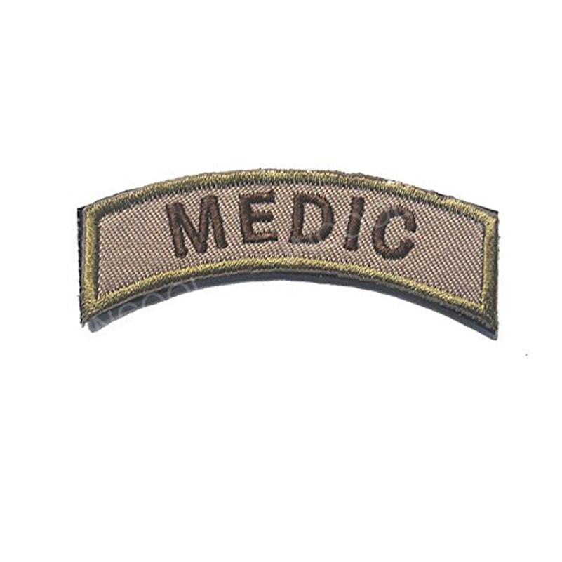 Parche de bordado, etiqueta médica, parche del ejército de ee.uu., gancho y cierre de bucle, parche moral, emblema táctico, apliques bordados, insignias