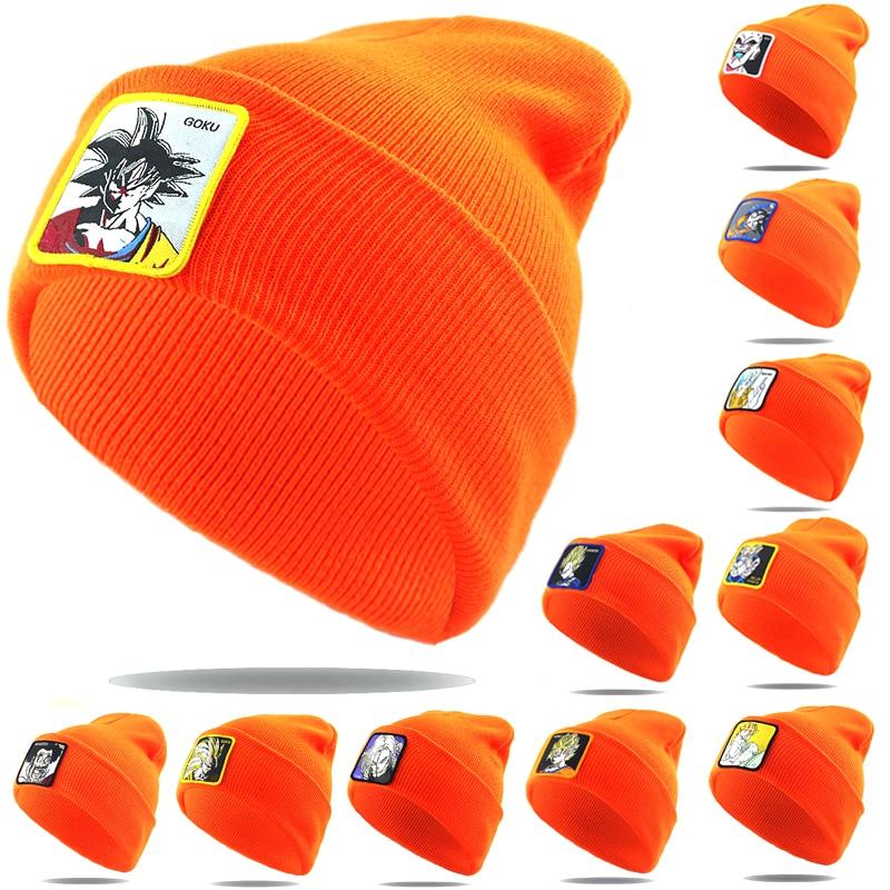 Gorros de Bola de Dragón de moda 3D bordado hueso tejido beanie hat 100% algodón flexible suave casual deportes sombreros caliente esquí cap