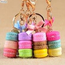 Vrouwen Cake Sleutelhanger Fashion Leuke Franse Gebak Sleutelhanger Bag Charm Auto Key Ring Wedding Party Gift Sieraden 17278