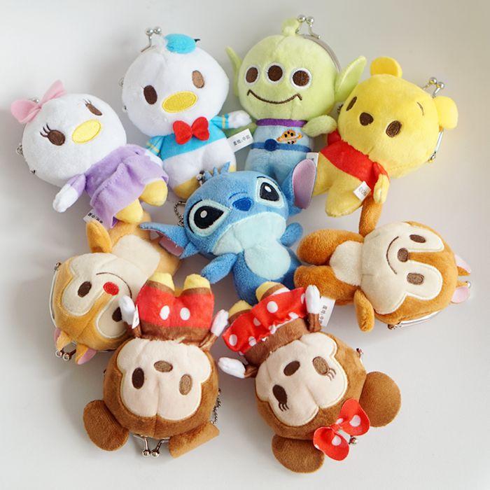 Дисней 10 см Микки Минни Маус плюшевые игрушки для девочек милый стежок кулон аксессуары Монета Пакет детский подарок на день рождения