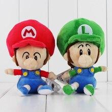 14 Cm 2 Stijlen Leuke Super Mario Luigi Running Mario Luigi Mario Star Zachte Pluche Baby Mario Bros Pop Speelgoed
