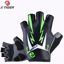 X-tiger 3D GEL Pad gants de cyclisme demi-doigt Sports dété antichoc gants de vélo vtt gants de vélo gants de moto