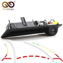 Trayectoria dinámica vista trasera de coche cámara para BMW X1 X3 X4 X5 F30 F31 F34 F07 F10 F11 F25 F26 E84 del tronco de manejar la cámara de marcha atrás