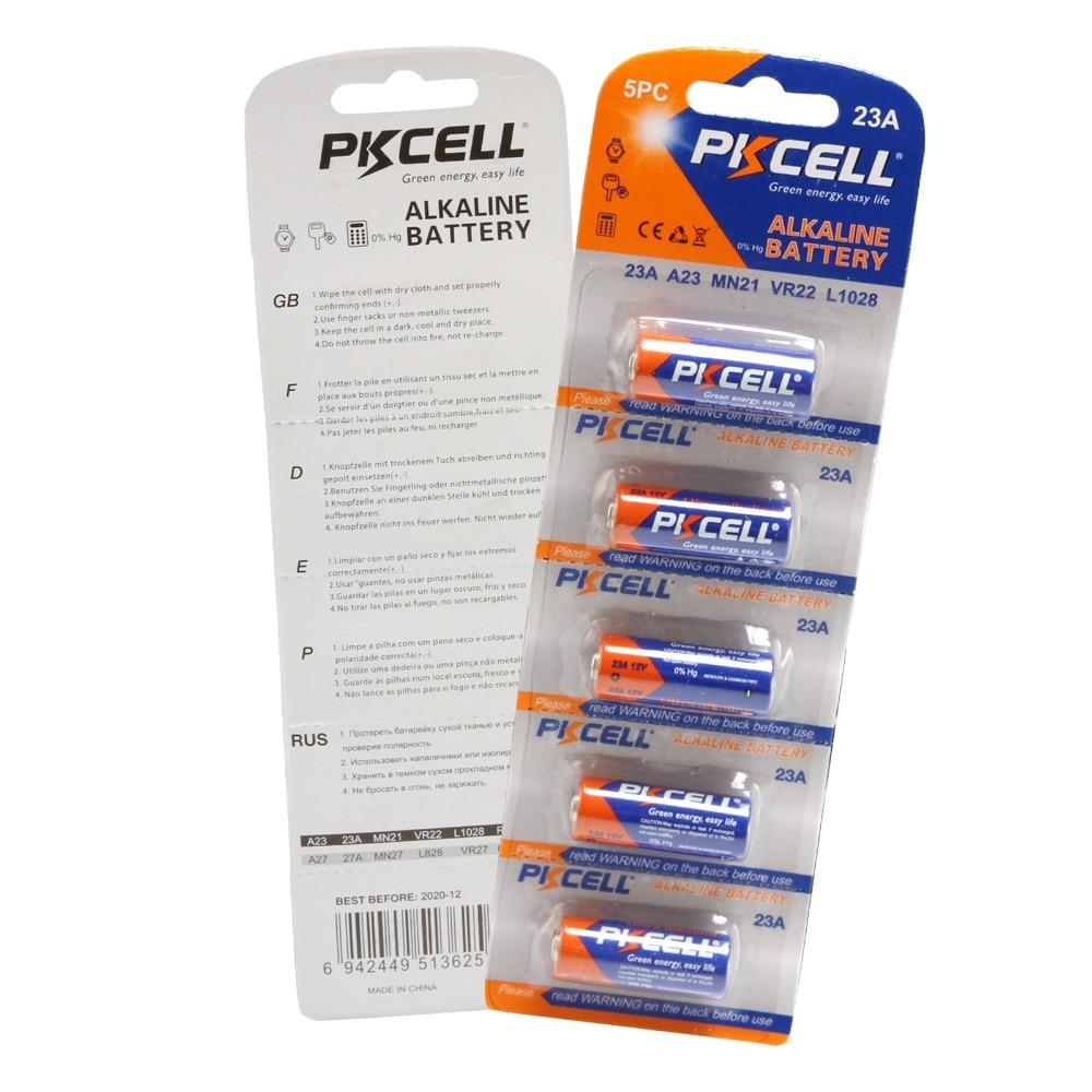 15 unids/lote PKCELL Batería alcalina 23A 12V 12V batería MN21 batería Pila...