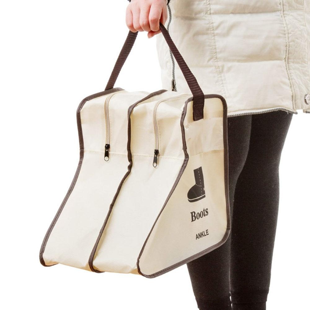 Almacenamiento de zapatos grandes portátil bolsas colgador armario cabina cubierta de zapatos botas organizador saco bolsa de almacenamiento con Bota con cremallera Protector