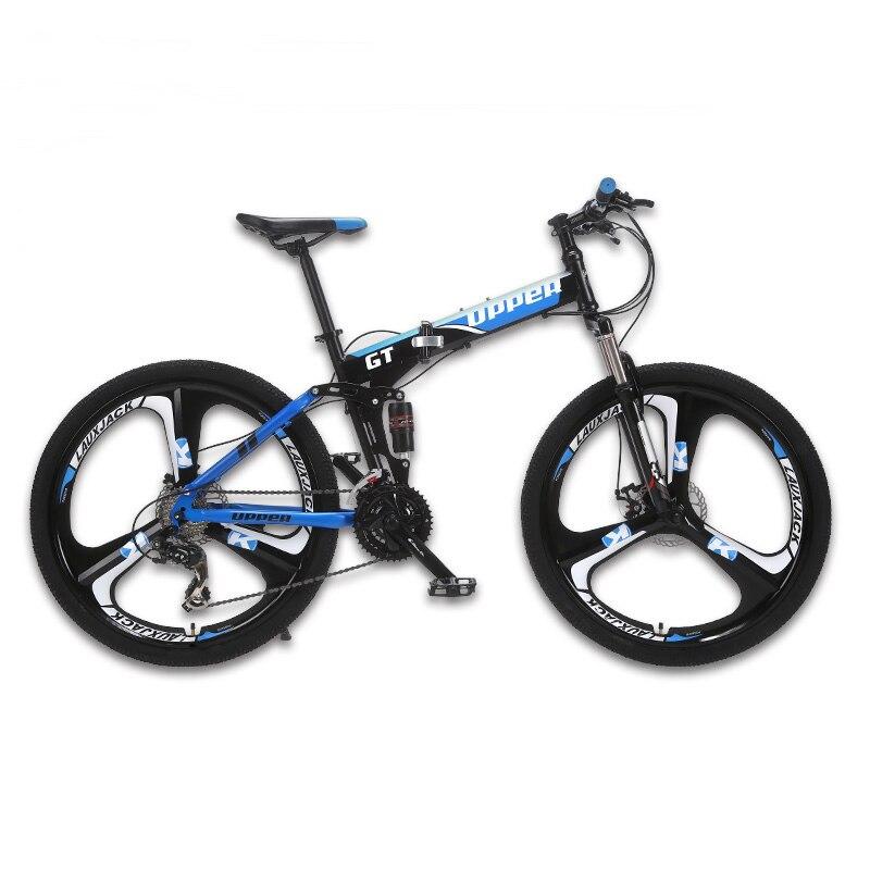 GT UPPER горный велосипед двухподвесная стальная складная рама 24 скорости Shimano