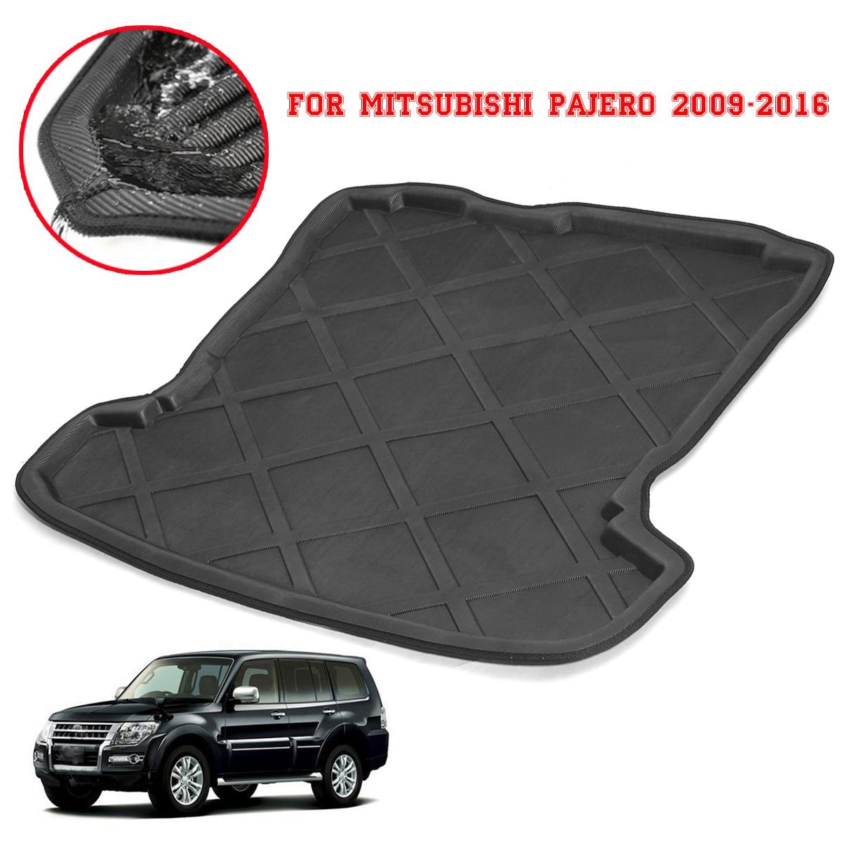 Für Mitsubishi Pajero 2009-2016 Auto Hinten Boot Liner Koffer Cargo Mat Fach Boden Teppich Schlamm Pad Protector Innen zubehör