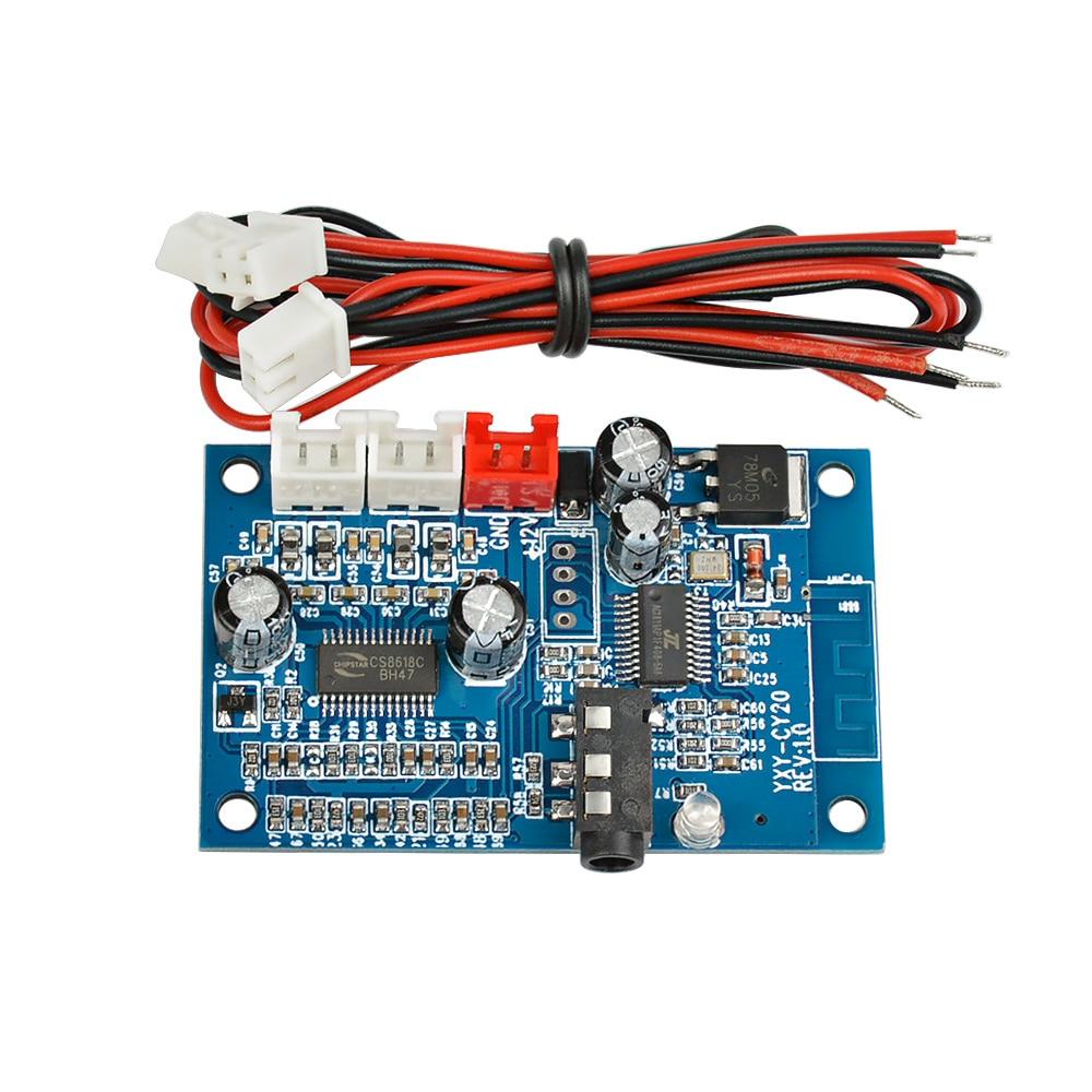 AIYIMA-Amplificador Bluetooth 4,2, 15W x 2, tarjeta de Audio estéreo, dos canales,...